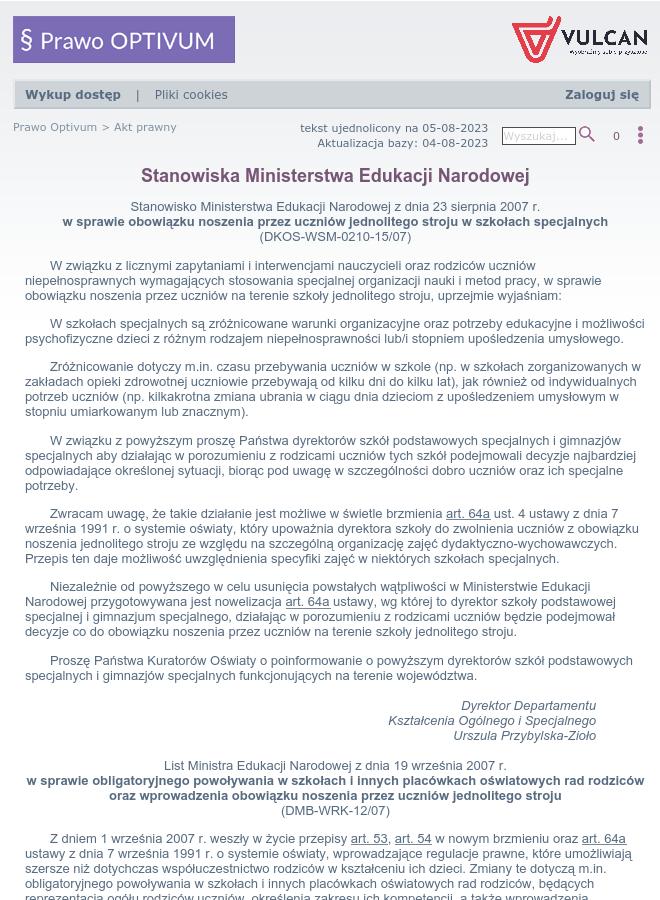 47b8366f8174 Stanowiska Ministerstwa Edukacji Narodowej